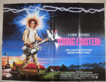 Young Einstein, Original UK Quad Poster, Yahoo Serious, '88